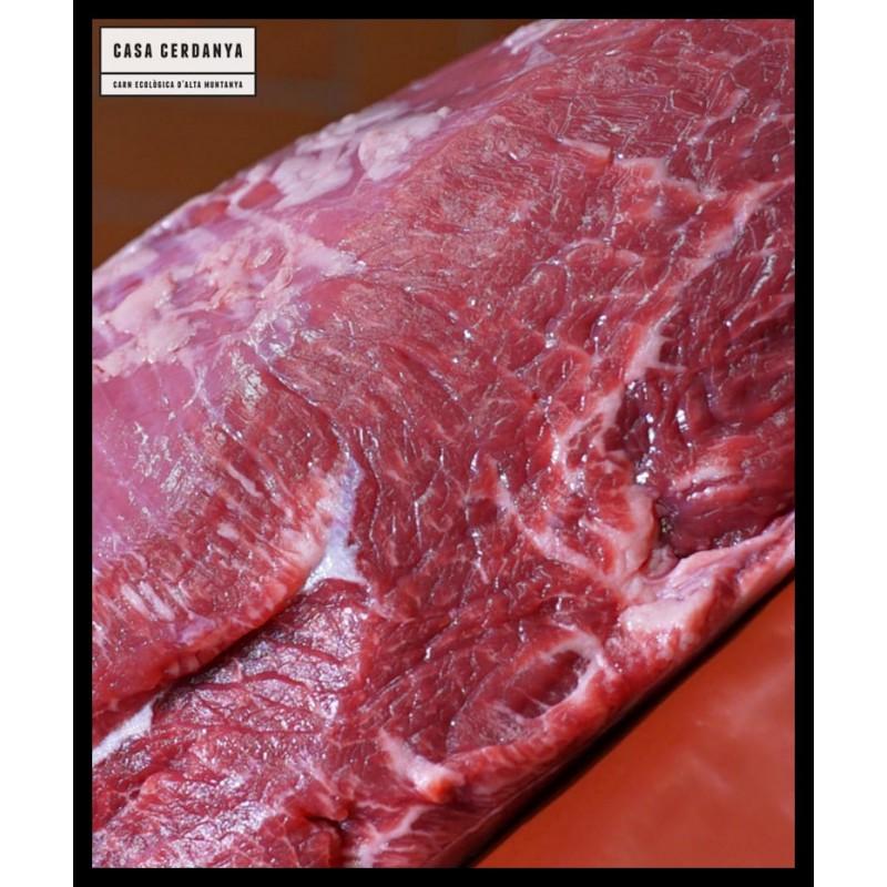 Bistec extra de vedella ecologica de culata espatlla. Pack de dos bistecs de 140-160g ud.