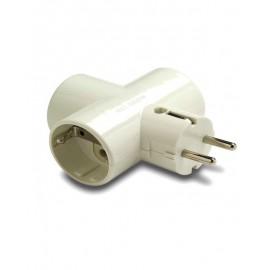 Duolec adaptador 3 tomas
