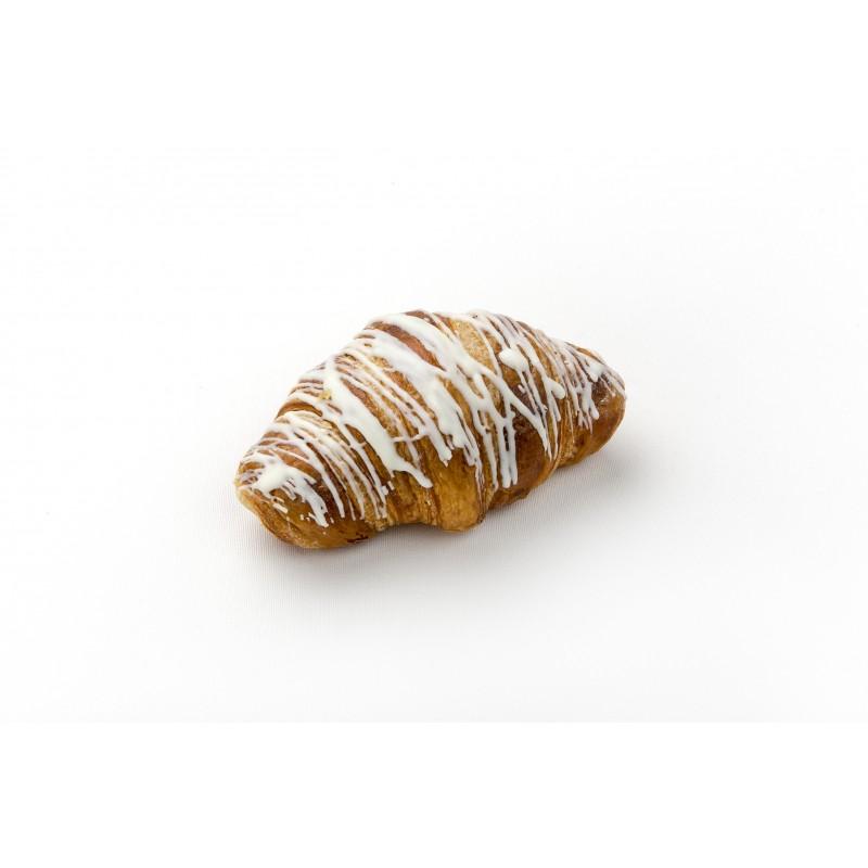 Croissant de xocolata blanca