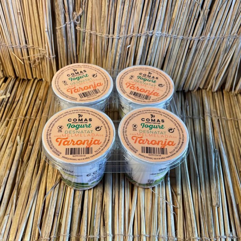 Pack 4 iogurts vaca 125ml desnatat amb melmelada taronja