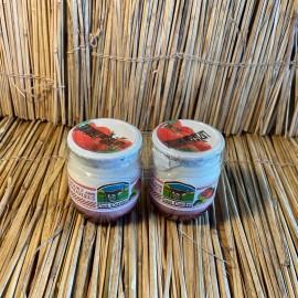 Pack 2 iogurts vaca 125ml vidre natural amb maduixa
