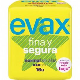COMPRESES EVAX FINA Y SEGURA NORMAL SENSE ALES 16 UNITATS